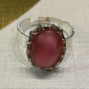5 for $10 jewelry sale silver ring with pink stone